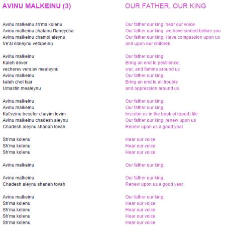 AvinuKalmeinuLyrics