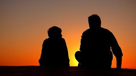 silhouette-father-son